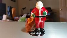 "Traditional Department 56 Porcelain Santa Clause with Toy Bag, 3 3/4"" High- Mint"