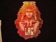 LRG Apparel Clothing Beautiful Woman Aztec Inca Snake Soft Black T Shirt M