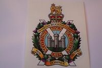 "2 X ROYAL KINGS OWN BORDERERS   HM ARMED FORCES  STICKERS  4"" BRITISH ARMY"