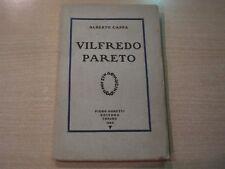 VILFREDO PARETO - Alberto Cappa - Piero Gobetti Editore 1924