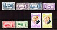 Falkland  -. Lotto da 8  Francobolli (Stamps) - perfetti