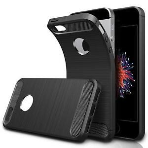 Slim Case Handyhülle Schwarz Matt Carbon Silikon Handy Schutz Tasche Hülle Cover