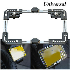 Motorcycle Scooter Telescopic Adjustable License Plate Frame Holder Tail Bracket