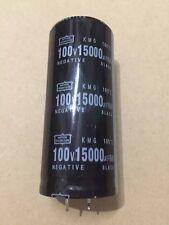 1pcs Nippon 100V 15000UF 35X70 KMG  electrolytic capacitor 105c #G2096 XH