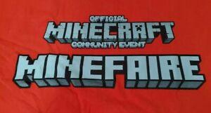 Minecraft Official Staff Community Event Shirt Agent T-Shirt Rare Red - Medium