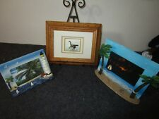 lot of 3 unique nautical maritime sea shore beach ocean themed picture frames