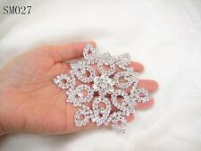 Wedding Applique Rhinestone Dancing Dress Applique Diamante Trim Costume Motif