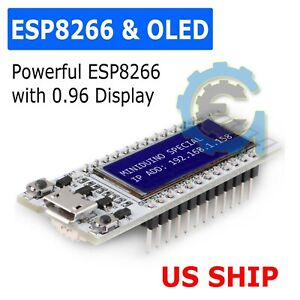 "ESP8266 WIFI  0.91"" Inch OLED Display Development Board NodeMcu For Arduino NEW"