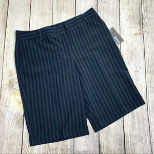 Kenneth Cole Reaction Pinstriped Bermuda Shorts Size 10