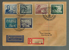 1944 Amsterdam Holland Registered Cover to Hamburg Germany Dienstpost