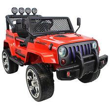 Jeep Raptor Kinderauto Geländewagen Fernbedienung 2x12V in Rot Elektroauto