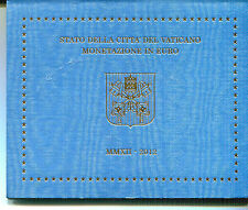 VATICANO CARTERA EURO COIN SET 2012  OFFICIAL ISSUE