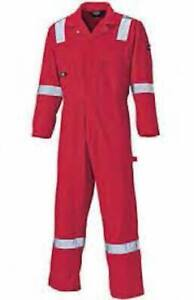 NEW Dickies WD2279 Long-Sleeved Cotton Coveralls - Red - Size XL - New With Tags