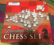 Classic Glass Chess Set Regulation Deluxe Game Strategy Board Frosted Pieces