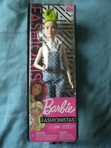 MATTEL BARBIE FASHIONISTAS IN BLUE DUNGAREES AND GREEN MOCHICAN (124) NEW IN BOX