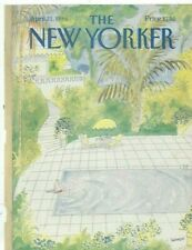 COVER ONLY  The New Yorker magazine ~ April 21 1986 ~ Sempe Sempé ~  Man Pool