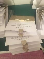 50 Wedding Pocketfold Invitations With Rsvp Cards And Poem Cards