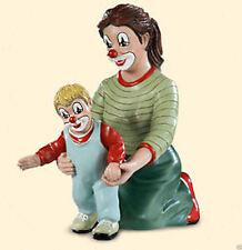 """Gilde Clowns handbemalte Sammlerfigur Clown """" Die ersten Schritte """" Neu 35200"""