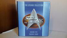 Skybox 1996 Star Trek TNG Season 5 binder and Card set in Pages