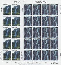 EUROPA CEPT 1999 NATURPARKS NATIONALPARKS - FÄRÖER FOROYAR 354-55 KLEINBOGEN **