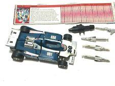 Mirage * 100% Complete 1985 Hasbro G1 Transformers Formula-1 Racer Action Figure