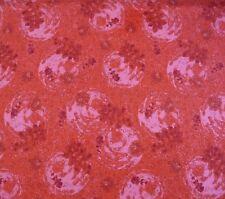 Australian Aboriginal Quilting Fabric Rain Dreaming Red Patchwork 1/2  Metre New