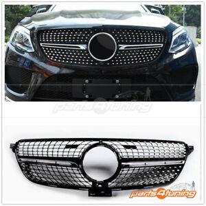 MERCEDES BENZ GLE SUV W166 2015-2018 GRILLE CHROME BLACK DIAMOND STYLE CAMERA