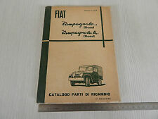 CATALOGO PARTI DI RICAMBIO ORIGINALE 1960 FIAT CAMPAGNOLA DIESEL - A - AR 59
