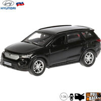 Diecast Car Scale 1:36 Hyundai Santa Fe Black Russian Model Toy Cars