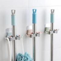 Wall Mounted Mop Broom Holder Hanger Storage Organizer Bathroom Kitchen Tool
