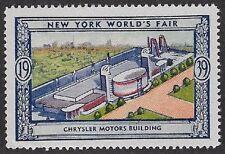 Usa Poster stamp:1939 New York World's Fair: Chrysler Motors Building - dw433/12