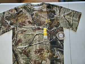 REALTREE MEN'S HUNTING NWT SIZE LARGE SHORT SLEEVE TSHIRT COTTON POLYESTER BLEND