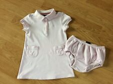 TOMMY HILFIGER, LITTLE GIRLS PINK POLO DRESS & PANTS OUTFIT... SIZE 3T
