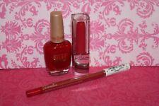Milani Nail Polish #24 Red To Tango & Maybelline Lipstick #020 Signature Scarlet