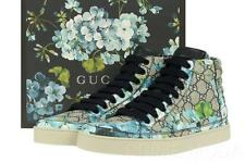 NEW GUCCI BLOOMS HIGH-TOP GUCCISSIMA SNEAKERS LACE-UP SHOES 7 G/US 8