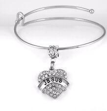Jesus Bracelet Jesus Gift Jesus Bangle Jesus Present Jesus charm Christ Bracelet