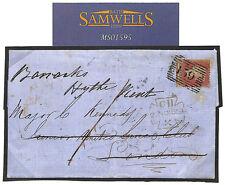 MS1595 1854 GB FORWARDED *United Services Club*Officer HYTHE BARRACKS ex Glasgow