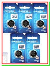 5 Batterie Pile RENATA CR2320 CR 2320 E-CR2320 E-CR 2320 280-201 Litio