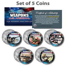 U.S. WEAPONS ARSENAL Guns & Grenade JFK Kennedy Half Dollars US 5-Coin Set