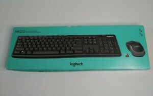 Logitech Wireless Desktop MK270 Cordless Keyboard & Mouse