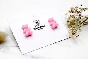 Gummy Bear / Novelty Candy Lollies Earrings Studs - Pink