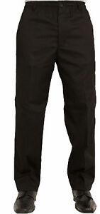 FULL ELASTIC WAIST TROUSERS   STRETCH ELASTICATED COMFORT FIT RUGBY PANTS