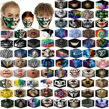 3D Unisex Reusable Washable Facemask Half Face Mouth Funny Face Protect Filter A