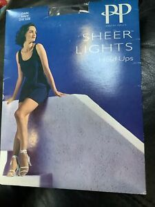 🦵Pretty Polly Sheer Lights 7 Denier Appearance Hold Ups One Size DARK NAVY
