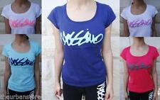 Cap Sleeve Graphic Tee Solid T-Shirts for Women
