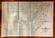 Original 1866 US Military RailRoad Map USED DURING CIVIL WAR General McCallum