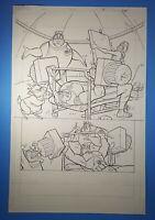 Walt Disney Hercules Jackson Guice Disney's Action Club Original Art Page