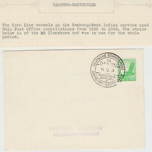 MARITIME 1936 *DEUTSCHE SCHIFFSPOST HAMBURG-WESTINDIEN:MS CLAUSHORN* cd on pc