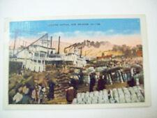 UNLOADING COTTON NEW ORLEANS, LA POSTCARD 1938