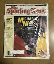 Michael Jordan & Magic Johnson, The Sporting News  June 10, 1991 Issue